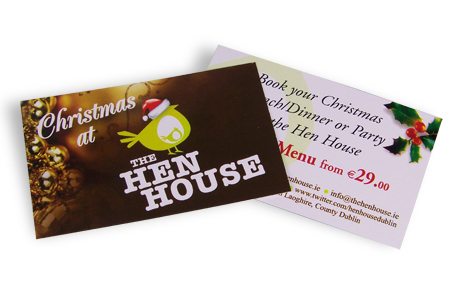The Hen House Dun Laoghaire, Business Cards