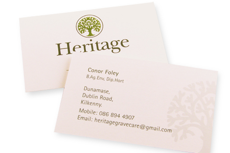 Business Cards, Heritage