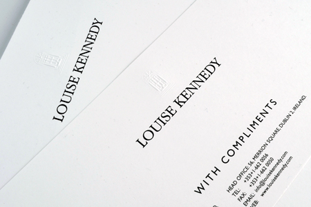 Louise Kennedy Letterhead and Compliment Slip