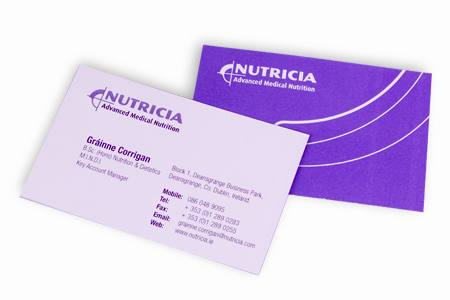 Nutricia pantone printed business cards