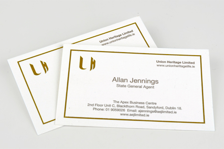Business Cards, Union Heritage